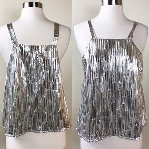 LIKE NEW✨ANTHRO MAEVE Shine on metallic Tank top M